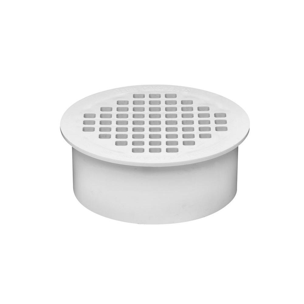 Oatey 4 in. PVC Snap-In Floor Drain with 4-1/2 in. Strainer for PVC Pipe