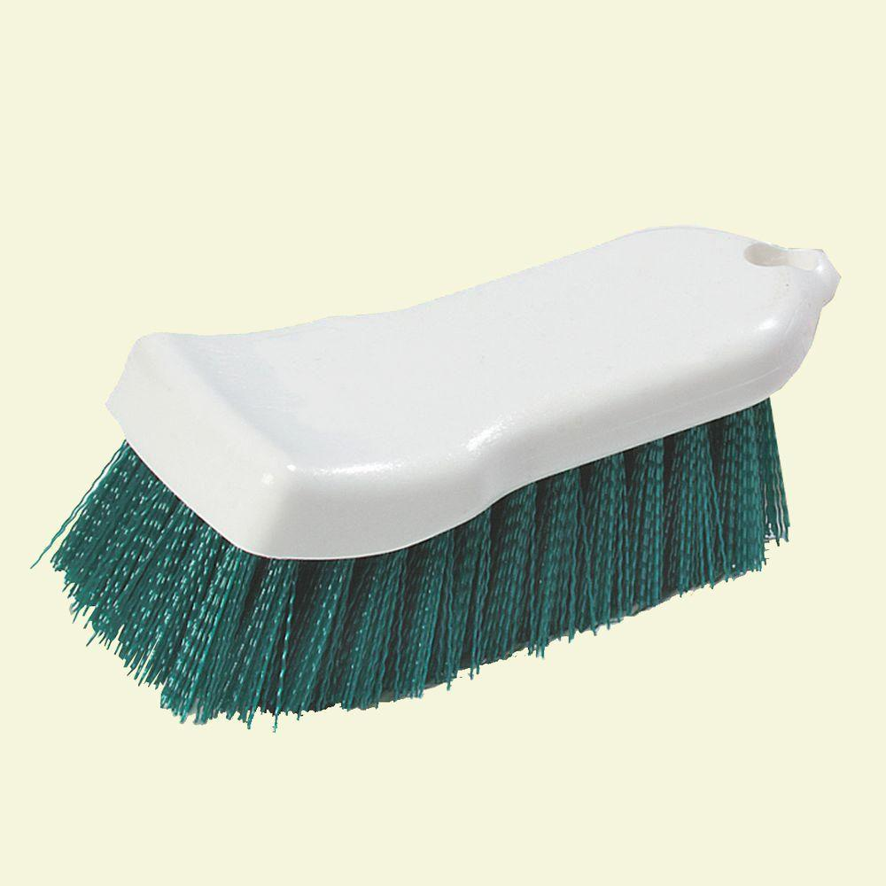6 in. Compact Green Hand Scrub Brush (Case of 12)