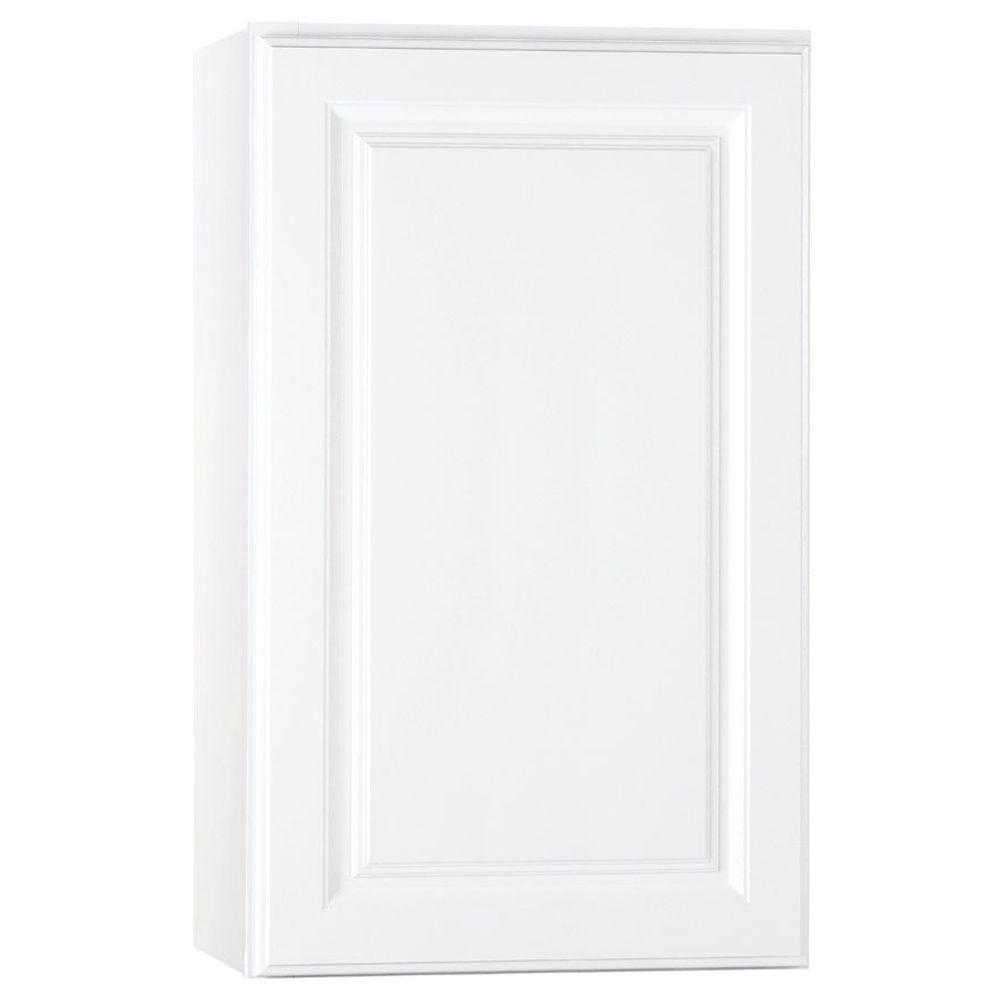 Hampton Bay Hampton Assembled 18x30x12 in. Wall Kitchen Cabinet in Satin White