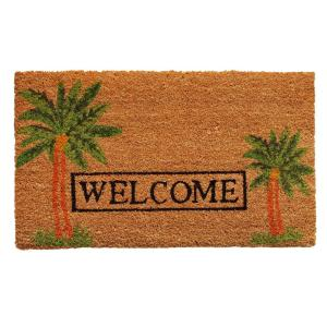 Home & More Palm Welcome Door Mat 17 inch x 29 in. by Home & More