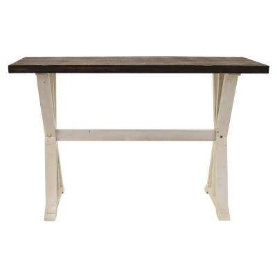 47.25 in. x 15.75 in. White Wood Console Table