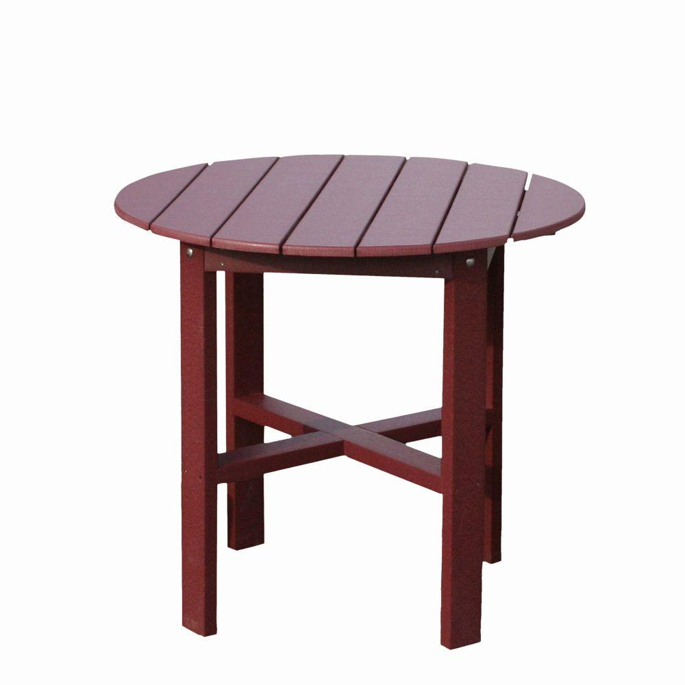 Vifah Roch Recycled Plastics 40 in. Patio Bar Table in Burgundy-DISCONTINUED