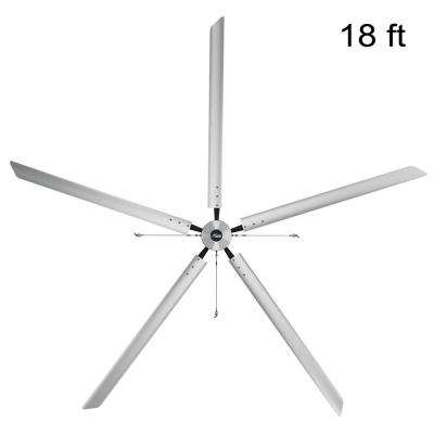 Titan 18 ft. 460-Volt Indoor Anodized Aluminum 3 Phase Commercial Ceiling Fan