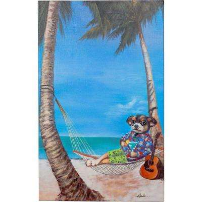 """32 in. x 20 in. """"The Good Life"""" Hand Painted Canvas Wall Art"""