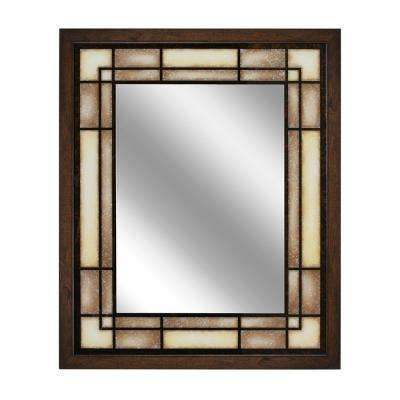 26 in. W x 32 in. H Tea Glass Rectangle Wall Mirror