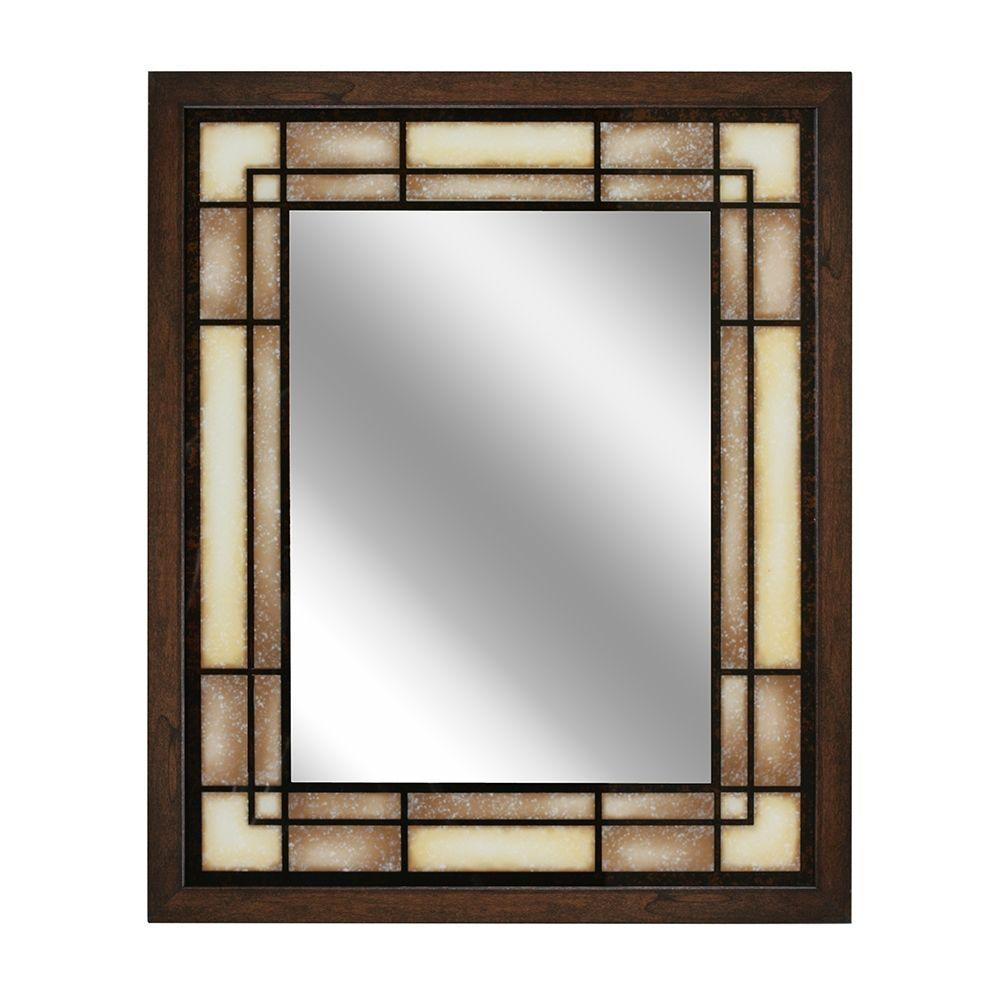 Deco Mirror 26 In. W X 32 In. H Tea Glass Rectangle Wall