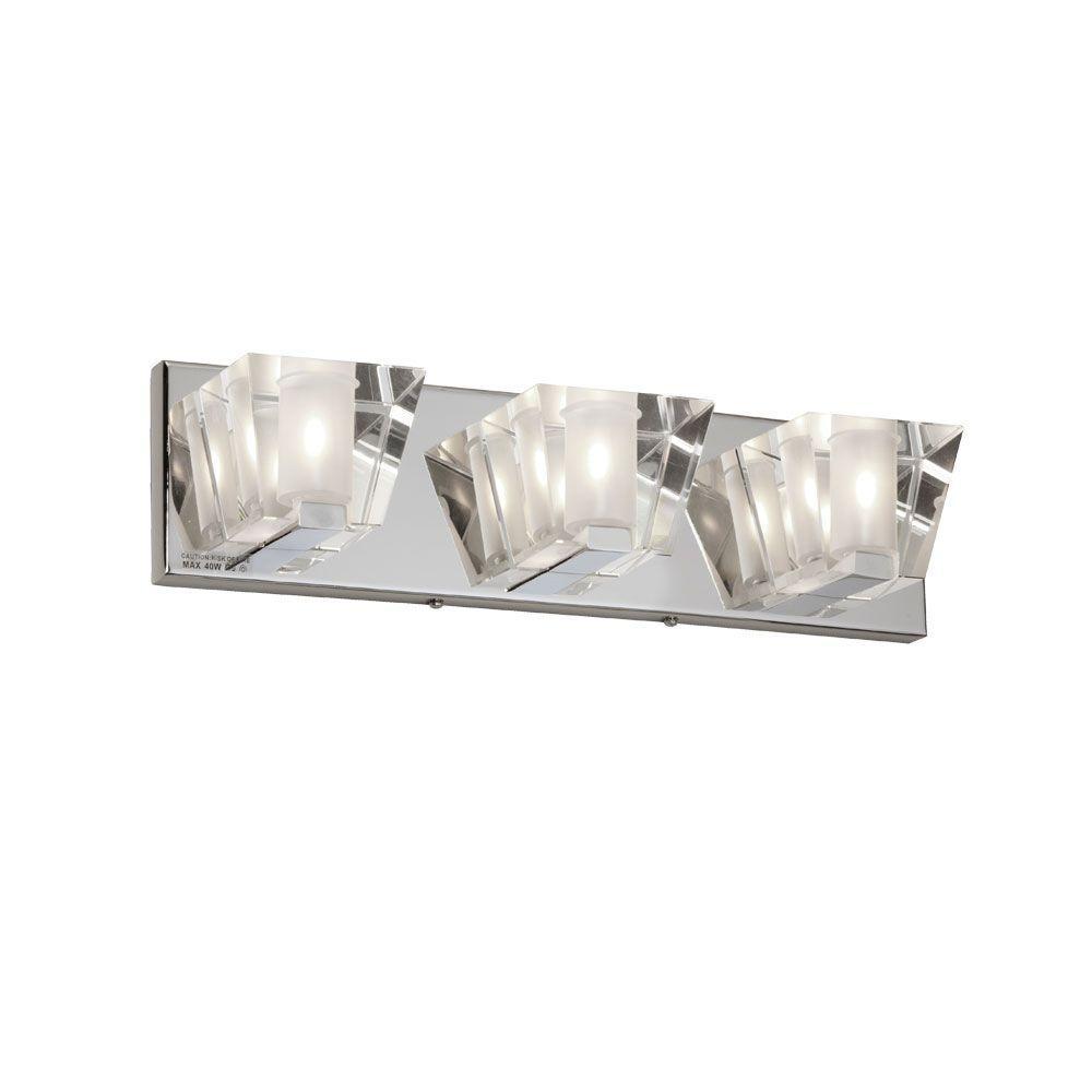 Ellipse 3-Light Polished Chrome Vanity Light