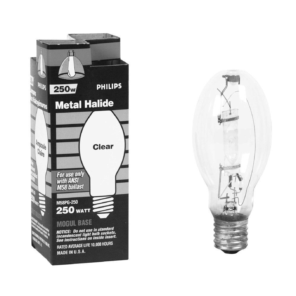 Philips 250-Watt ED28 Switch Start Metal Halide High Intensity Discharge HID Light Bulb