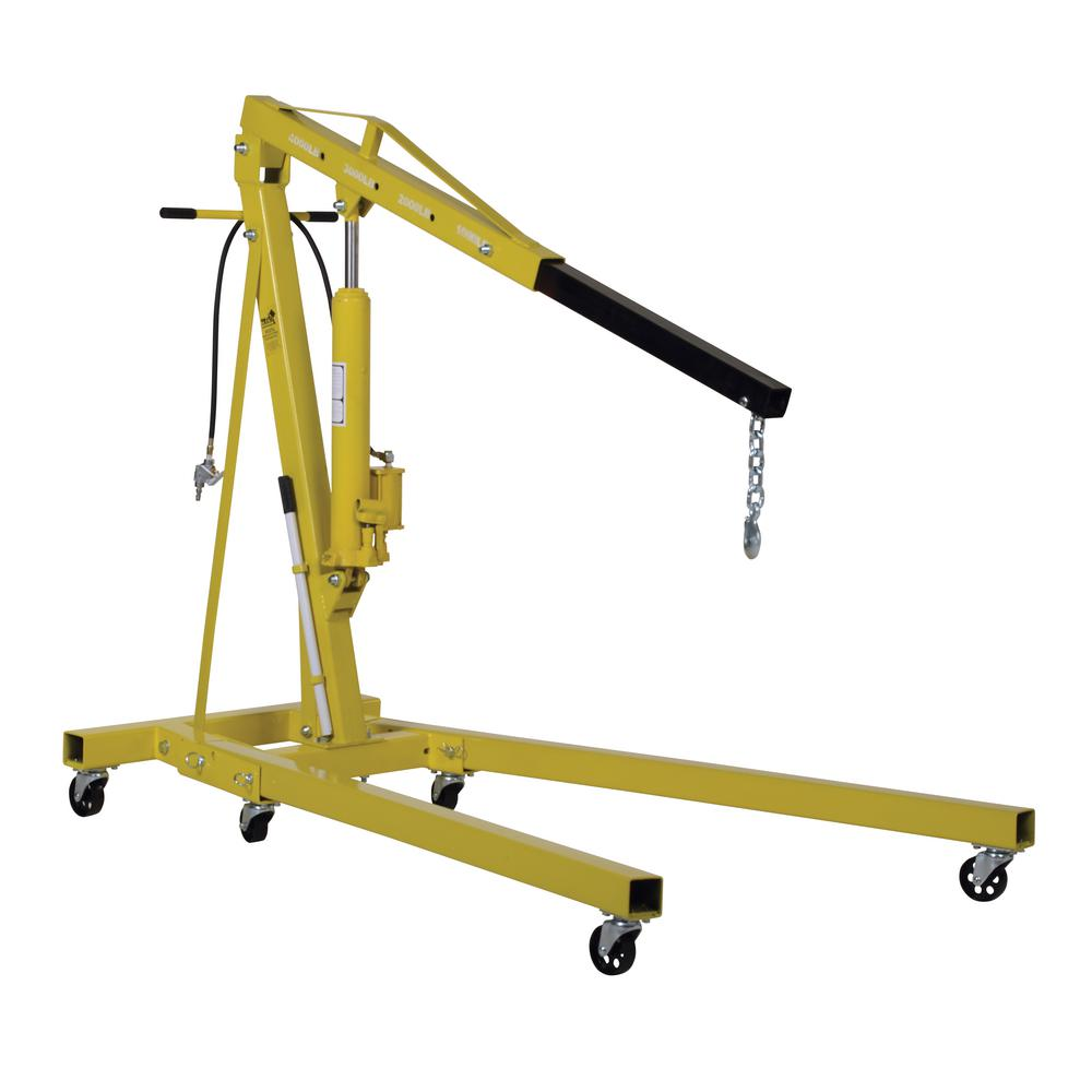 Vestil 2,000 lb. Capacity Air/Hand Pump Hyraulic Shop Crane