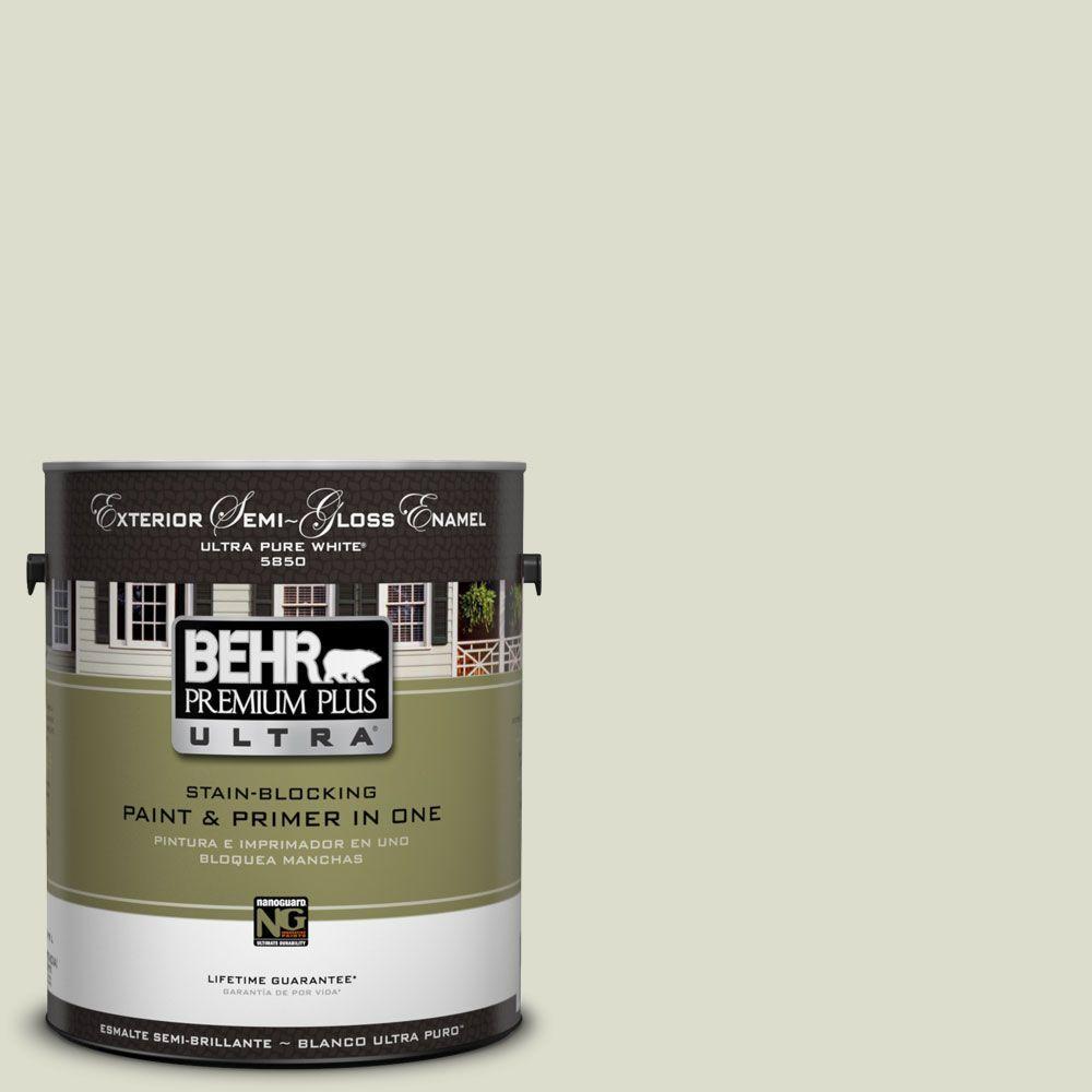 BEHR Premium Plus Ultra 1-Gal. #UL200-10 Desert Springs Semi-Gloss Enamel Exterior Paint