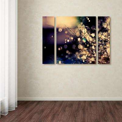 "30 in. x 41 in. ""Fairies in my Garden"" by Beata Czyzowska Young Printed Canvas Wall Art"