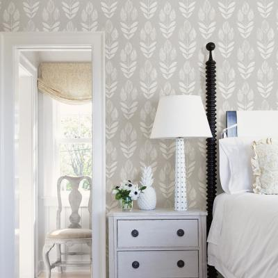 56.4 sq. ft. Garland Dove Block Tulip Wallpaper