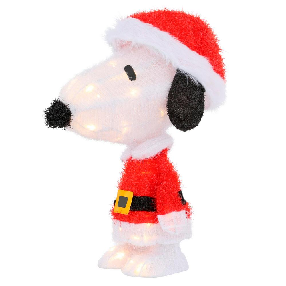 Peanuts 18 in. LED 3D Pre-Lit Snoopy in Santa Suit
