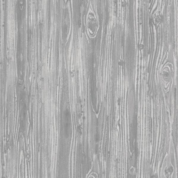 Textured Woodgrain Pewter Peel and Stick Wallpaper 56 sq. ft.