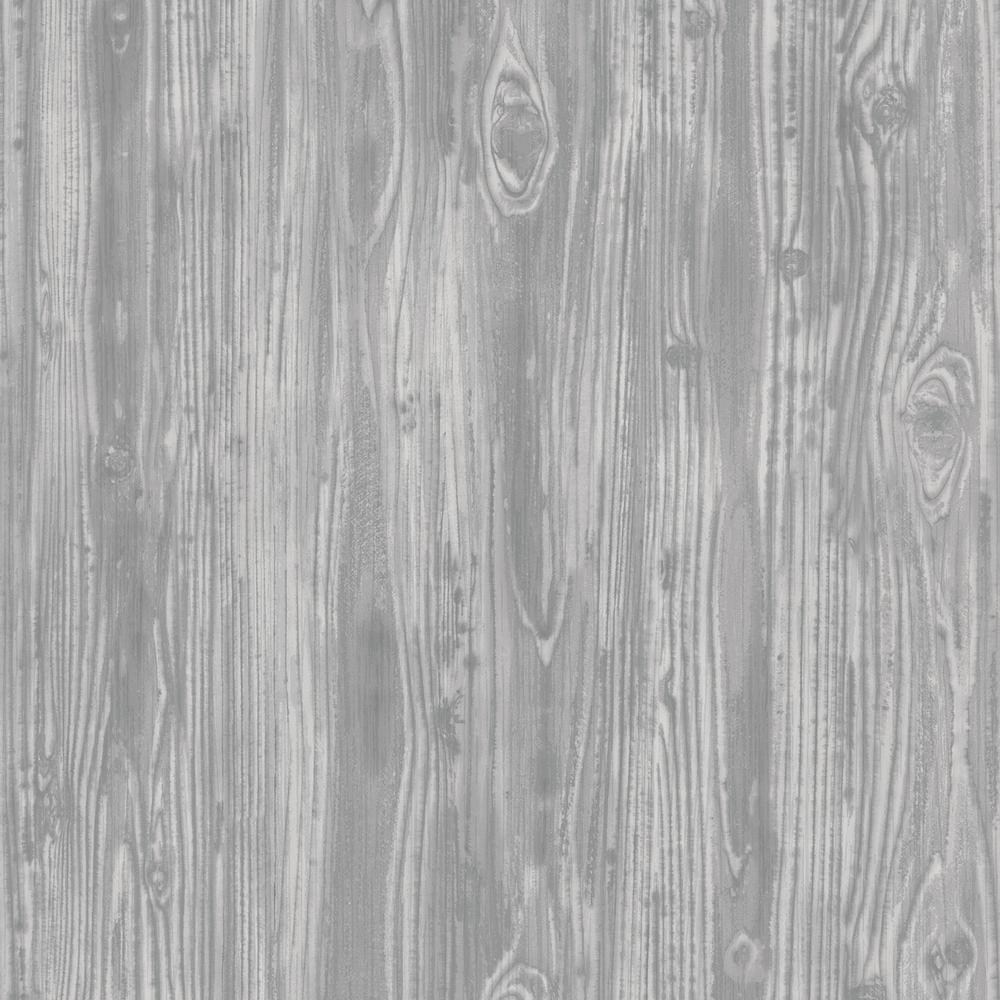 Tempaper Pewter Woodgrain Wallpaper
