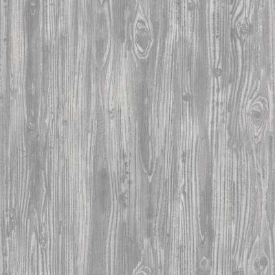Pewter Woodgrain Wallpaper