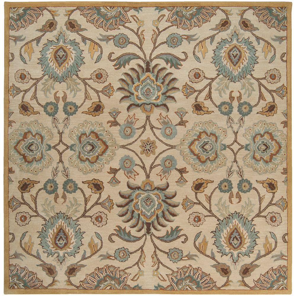 Artistic weavers artes beige 4 ft square area rug