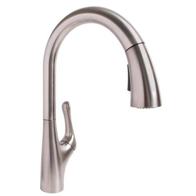 Chelsea Single-Handle Pull-Down Sprayer Kitchen Faucet in Stainless Steel