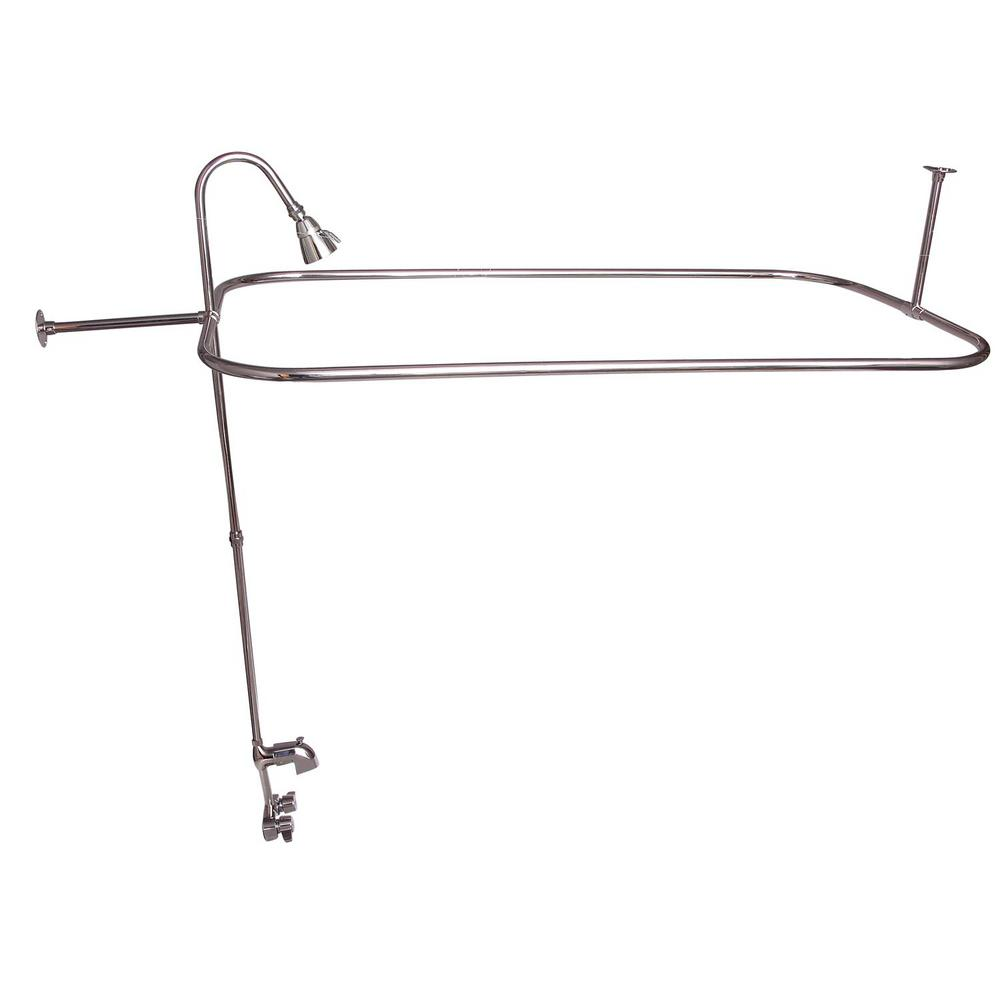 Barclay Products 2 Handle Claw Foot Tub Faucet With Code Spout
