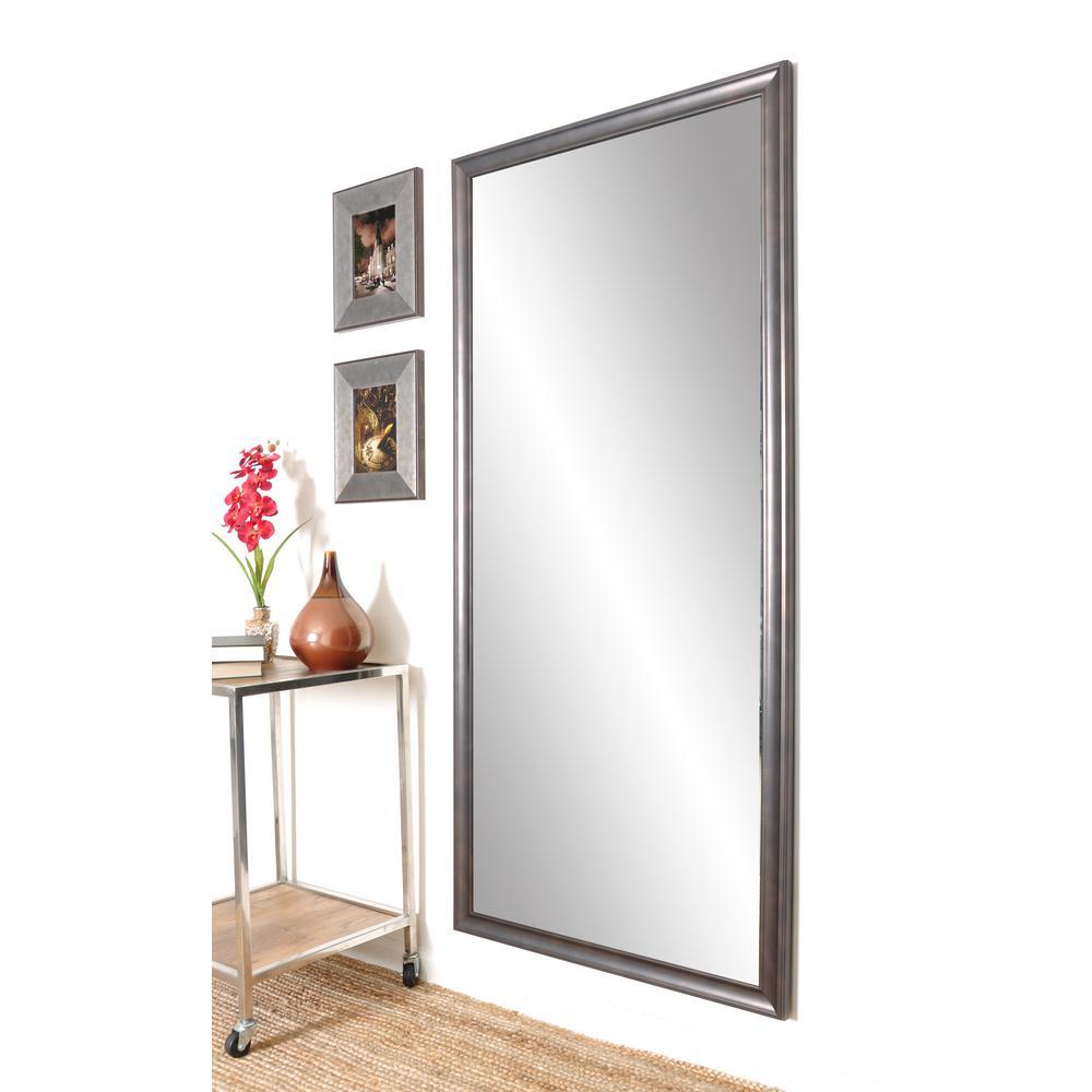 Medium Bronze Composite Hooks Classic Mirror (30 in. H X 63.5 in. W)