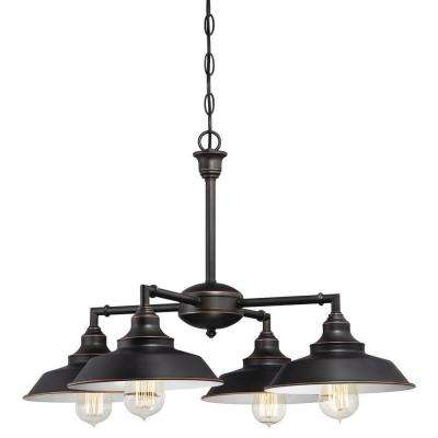 Iron Hill 4-Light Oil Rubbed Bronze Convertible Chandelier/Semi Flush Mount