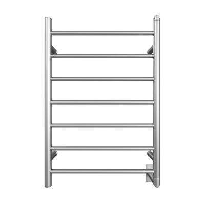 Comfort 7 Wall Hardwire Electric Towel Warmer and Drying Rack in Brushed Stainless Steel