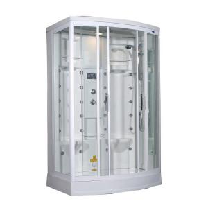 Aston ZA213 56 inch x 37 inch x 85 inch Steam Shower Right Hand Enclosure Kit in White with 28 Body Jets by Aston