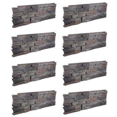 Stacked Stone Kenai 12 in. x 38 in. Faux Stone Siding Corner Panel Left (8-Pack)