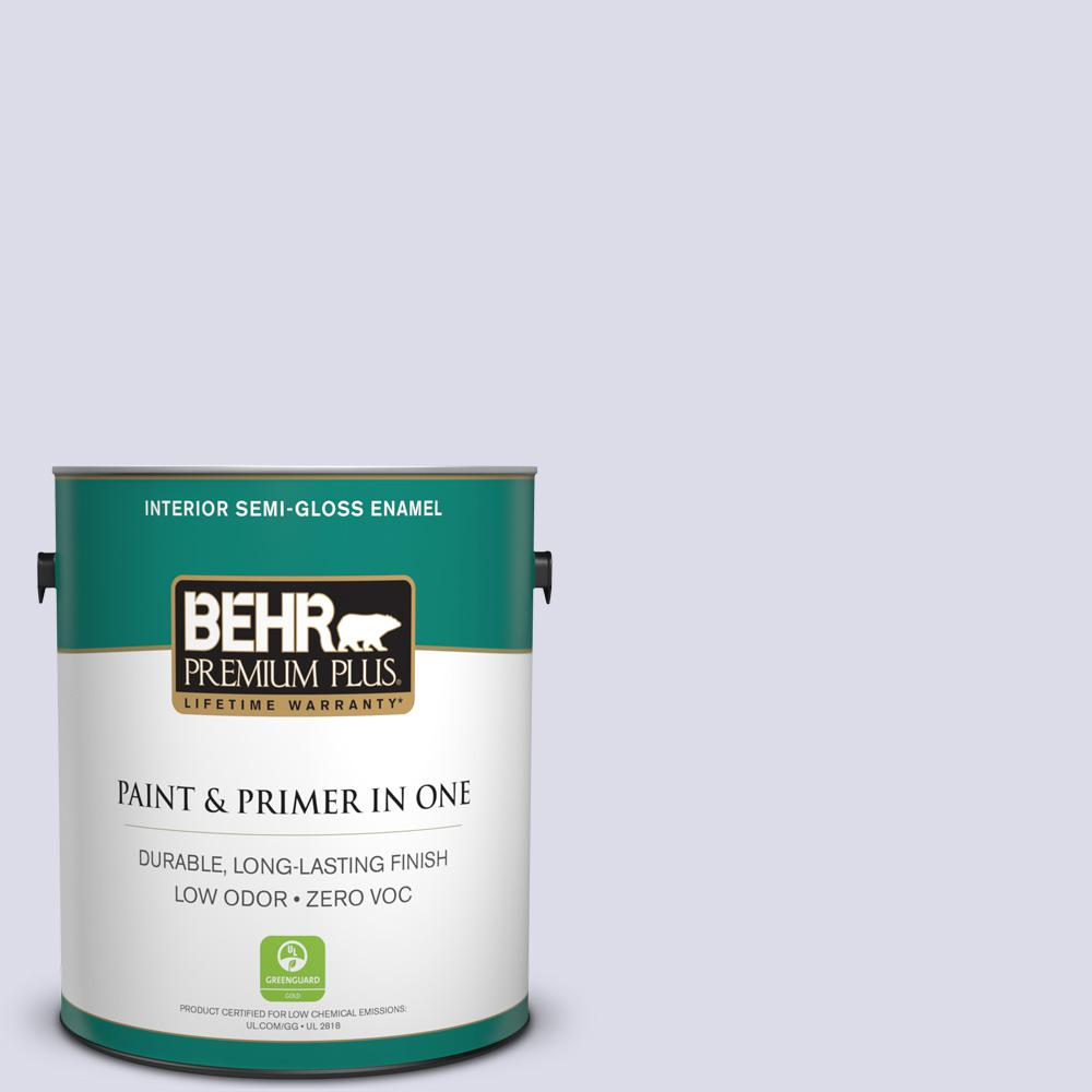 BEHR Premium Plus 1-gal. #640C-1 Hosta Flower Zero VOC Semi-Gloss Enamel Interior Paint