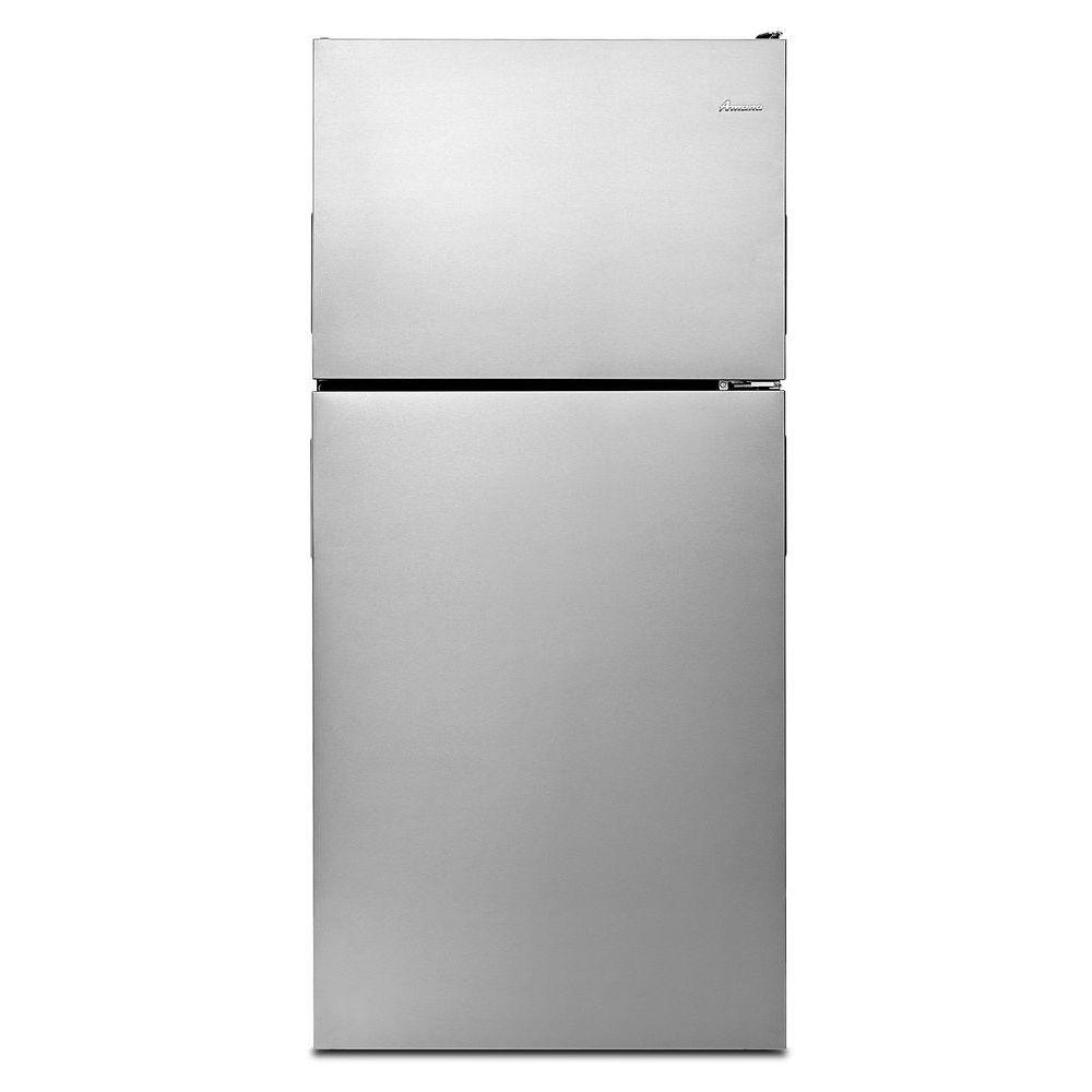 Amana 18.2 cu. ft. Top Freezer Refrigerator in Monochromatic Stainless Steel