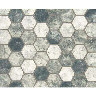 12 in. x 12 in. x 6 mm Urban Tapestry Hexagon Matte Glass Mesh-Mounted Mosaic Tile (1 sq. ft.)