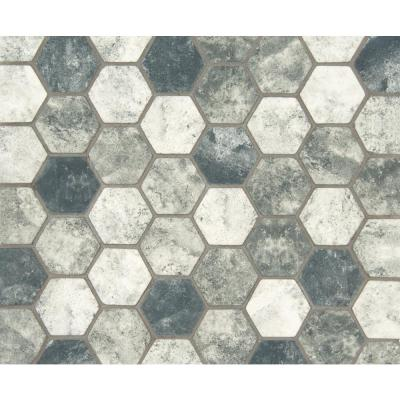 Urban Tapestry 12 in. x 12 in. x 6 mm Hexagon Matte Glass Mesh-Mounted Mosaic Tile (1 sq. ft.)