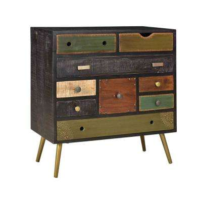 Midnight Multicolor 9-Drawer Chest