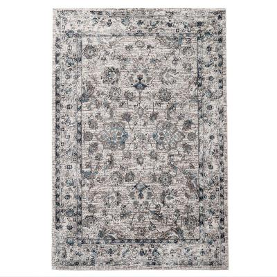 Vintage Gray/Turquoise 8 ft. x 10 ft. Indoor Area Rug