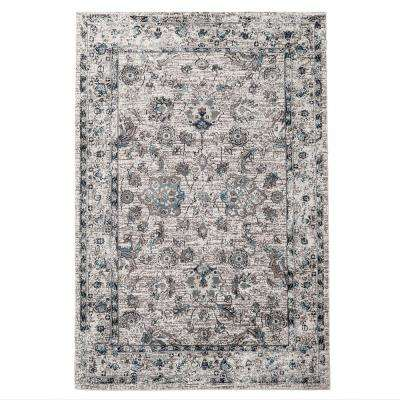 Vintage Gray/Turquoise 6.5 ft. x 9 ft. Indoor Area Rug