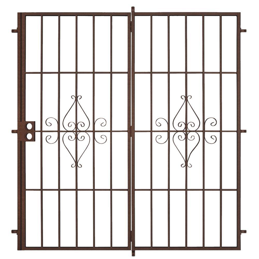 Unique Home Designs 72 in. x 80 in. Su Casa Copper Projection Mount Outswing Steel Patio Security Door with No Screen