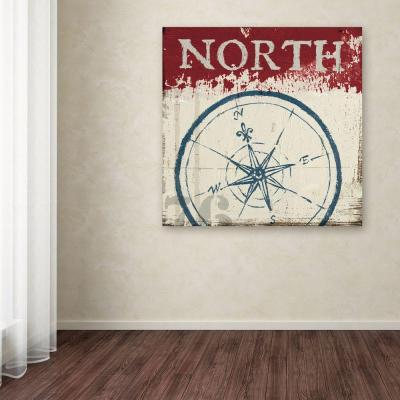 """24 in. x 24 in. """"Nautical I Red"""" by Wellington Studio Printed Canvas Wall Art"""