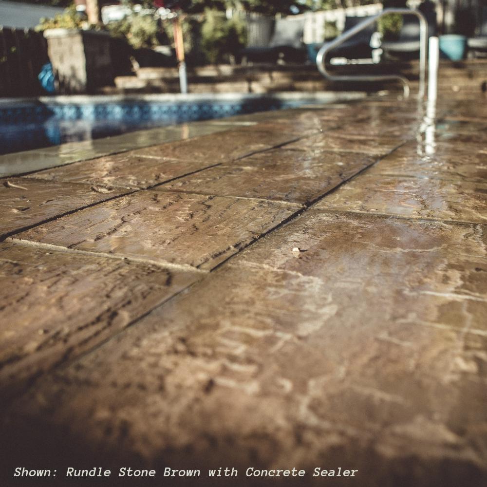 72 sq. ft. Concrete Rundle Stone Brown Paver Kit