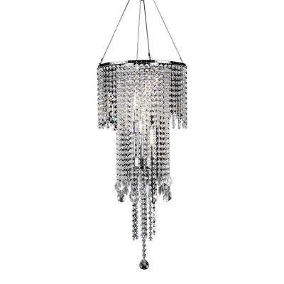 5-Light Silver Rain Metal Ceiling Lamp