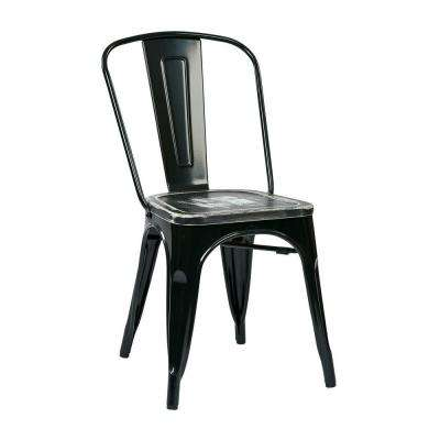 Bristow Black and Ash Crazy Horse Metal/Wood Side Chair (Set of 4)