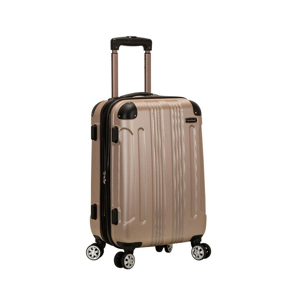 Rockland F1901 Expandable Sonic 20 in. Hardside Spinner Carry On Luggage, Champagne, Beige was $120.0 now $60.0 (50.0% off)