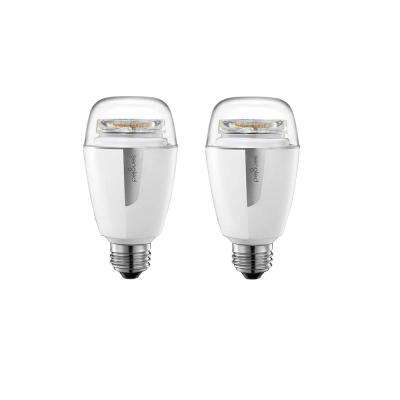 Element Plus Smart Lighting Starter Kit with Smart Hub and 2 A19 2700K - 6500K 60W EQ Dimmable LED Bulbs, White