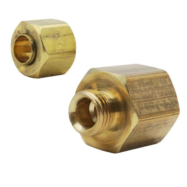 1/4 in. OD Compression x 3/8 in. FIP Brass Adapter Fitting