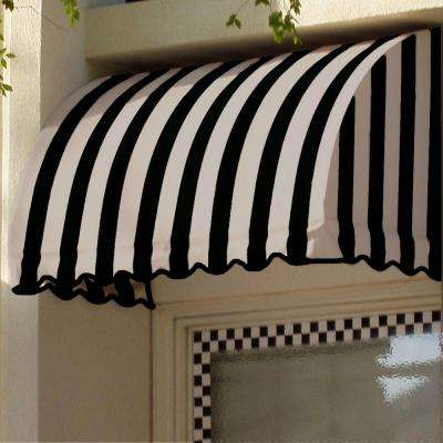 40 ft. Savannah Window/Entry Awning (44 in. H x 36 in. D) in Black/Tan Stripe