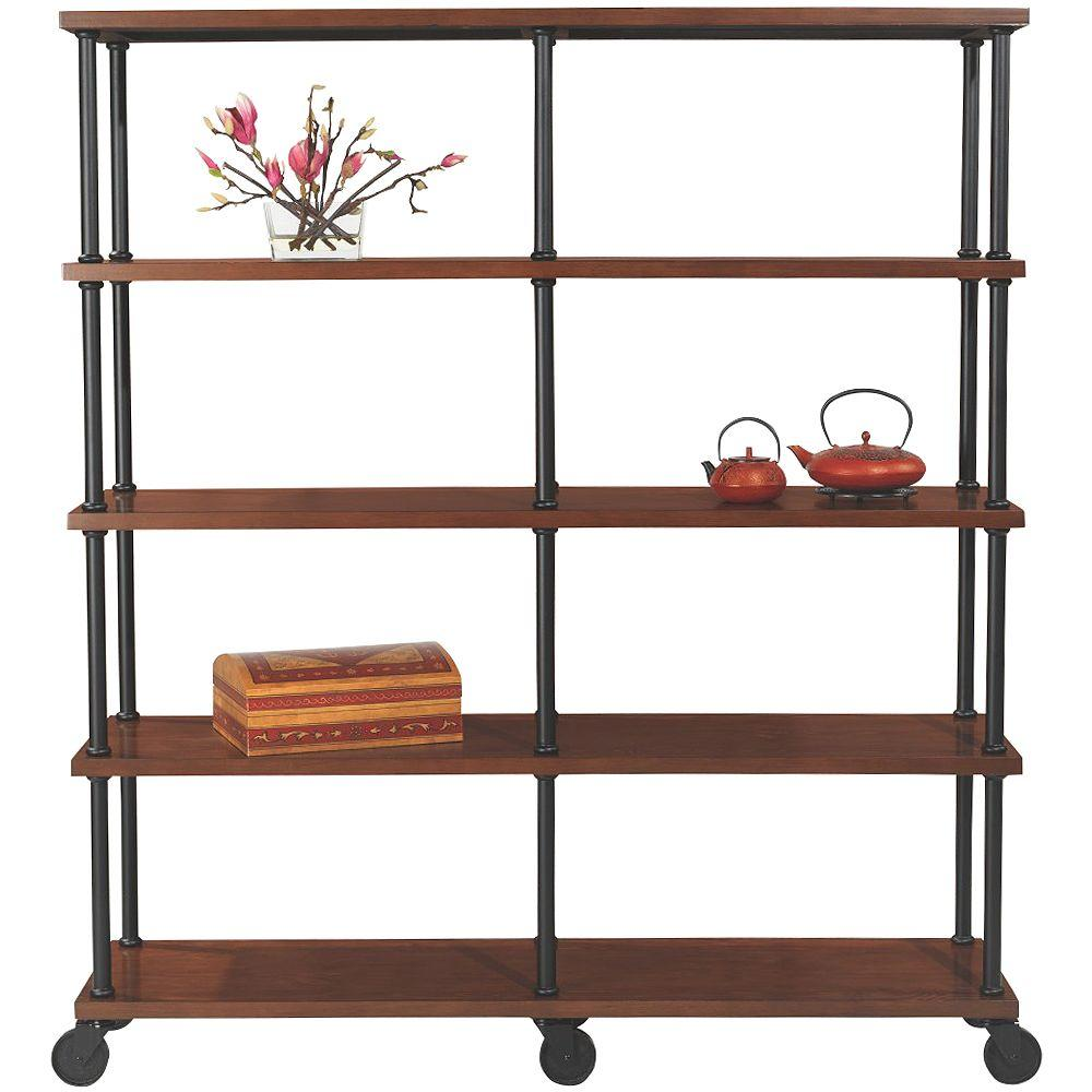 Home Decorators Collection Industrial Mansard Black Open Bookcase