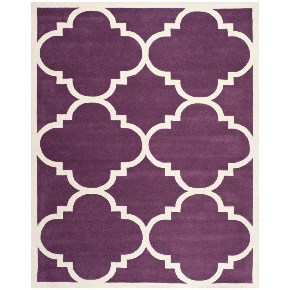 Safavieh Chatham Purple/Ivory 8 ft. x 10 ft. Area Rug
