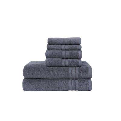 Modern Home Trends 6 Piece Towel Set In Grey