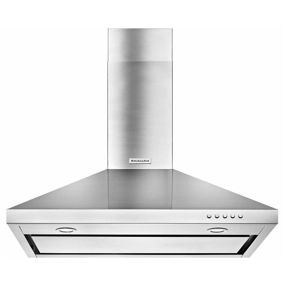 Tremendous Kitchenaid 30 In Convertible Wall Mount Range Hood In Stainless Steel Download Free Architecture Designs Lectubocepmadebymaigaardcom