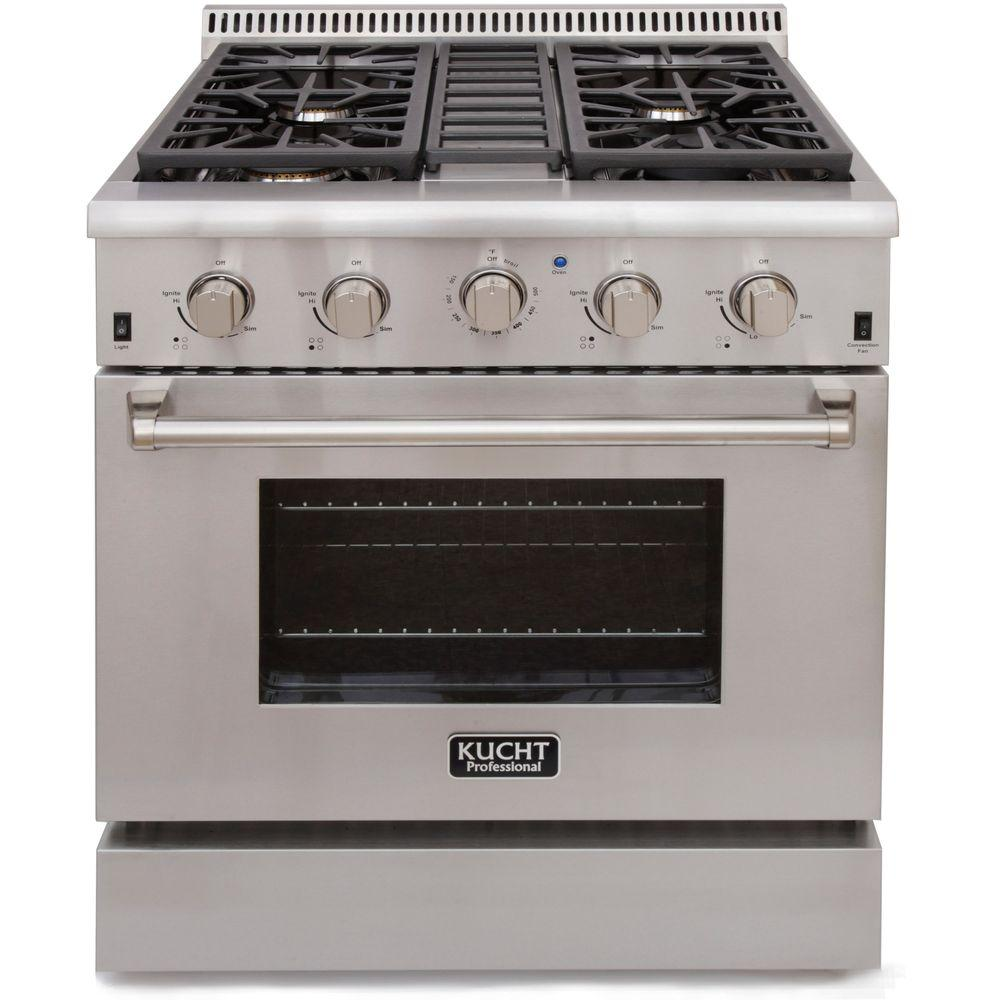 Kucht ProStyle 30 in 42 cu ft Propane Gas Range with Sealed