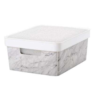 10 in. x 8 in. Small Marble Storage Bin
